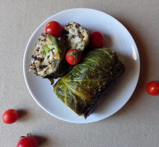 gołąbki wegańskie, bezglutenowe, bez laktozy