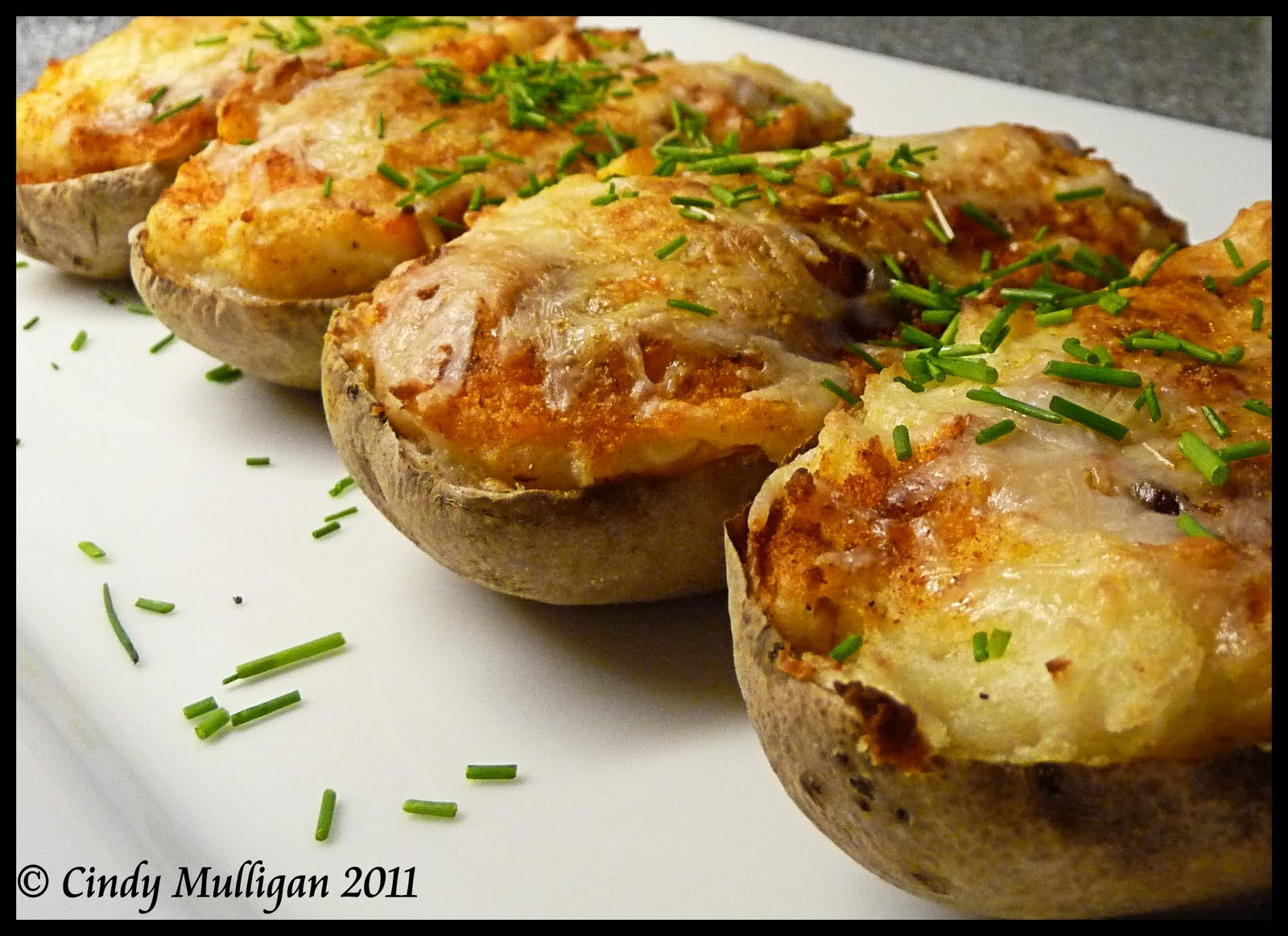 Gumbo Ya Ya: Twice Baked Roasted Garlic Potatoes