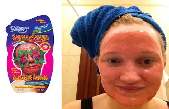 Den anden maske, den røde, som hedder red hot earth sauna , er en