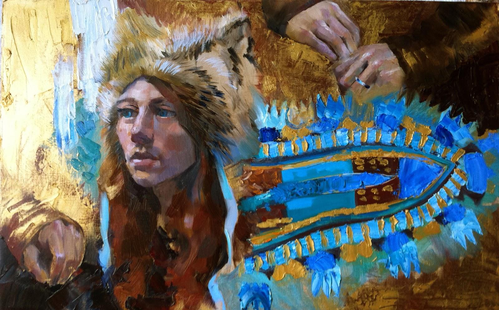 Veronika McLeod: Fantasy. Oil paint/gold oil paint, canvas ...
