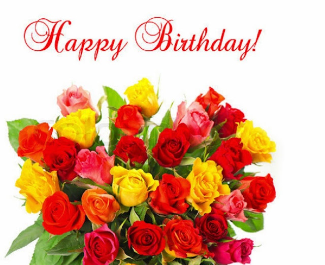 Flowers Bouquet Happy Birthday HD Wallpaper Free