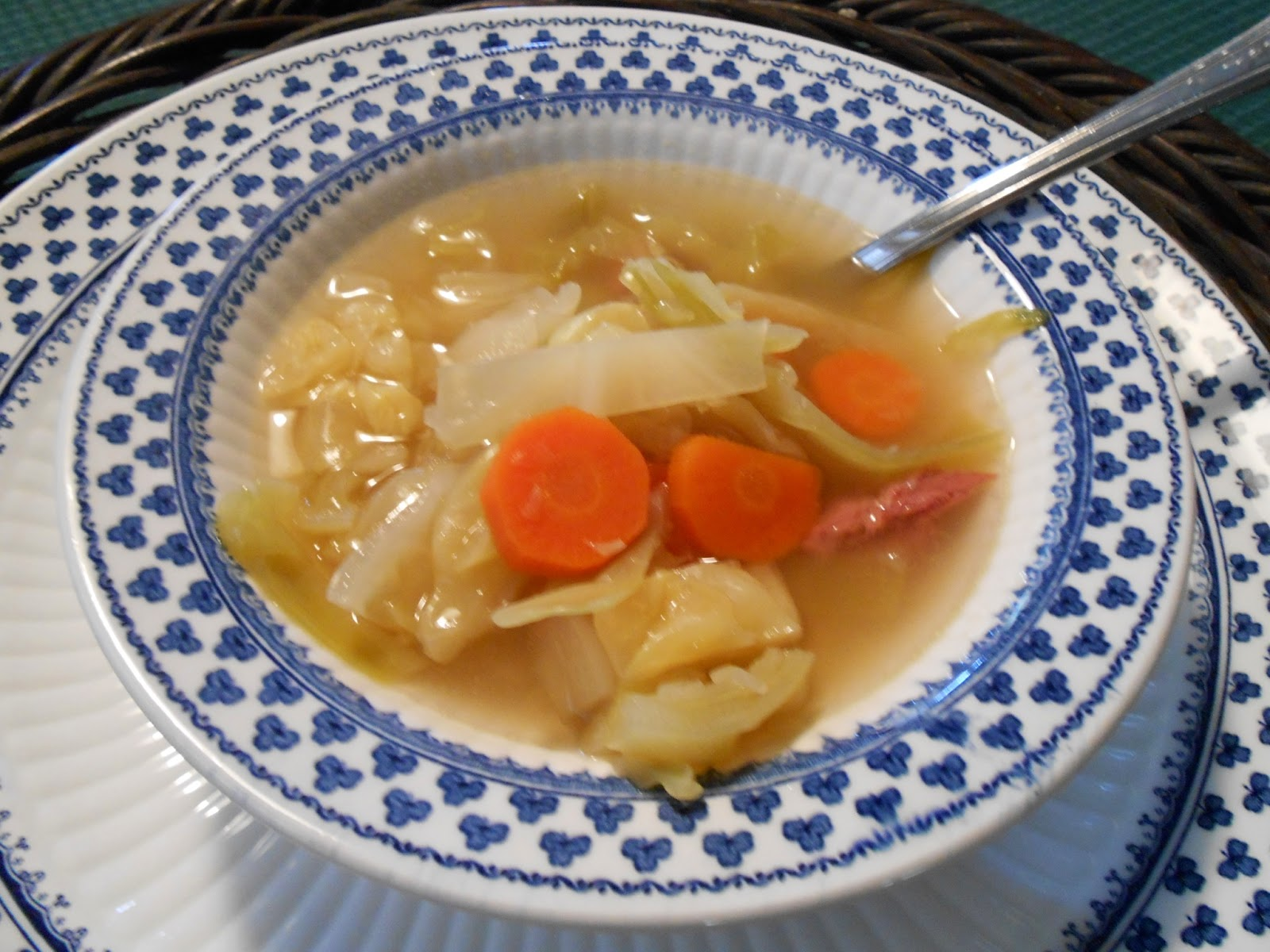Our Corned Beef and Cabbage Soup is served in our English Ironstone ...