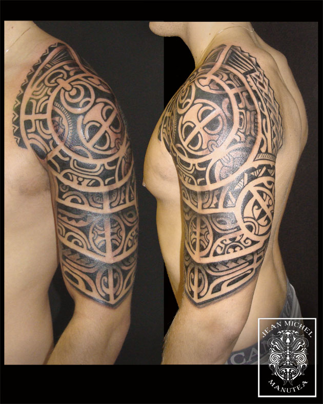 Tatouage polynesien polynesian tattoo january 2012 - Tatouage a deux ...
