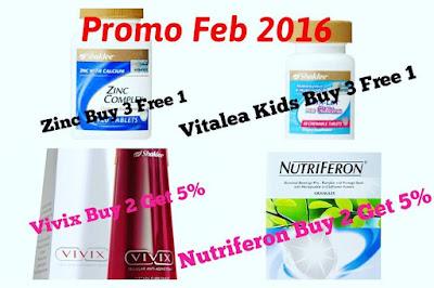 Promosi shaklee; promosi feb; zinc complex; nutriferon; vitamin kanak-kanak; vivix shaklee; shaklee labuan; shaklee kudat