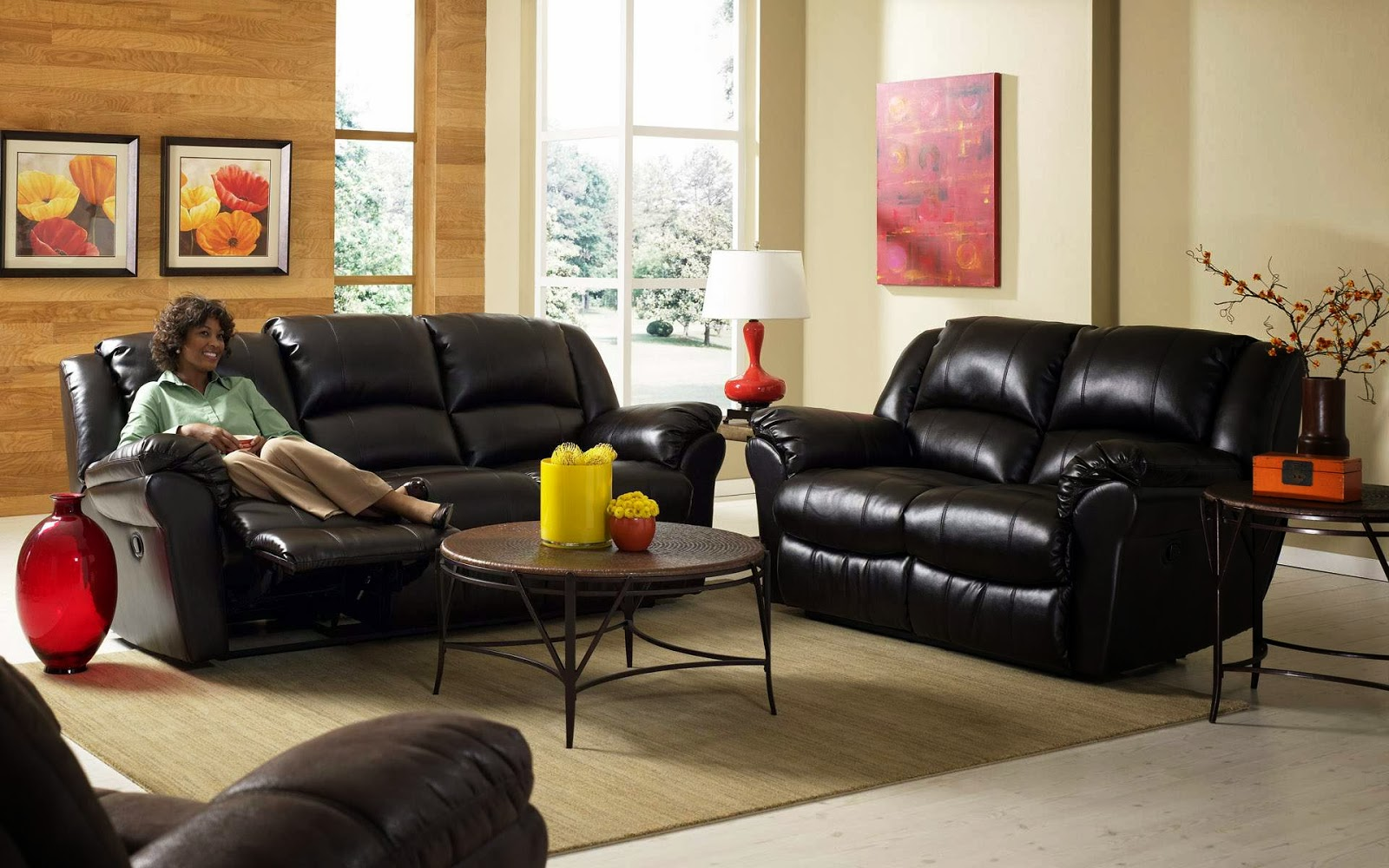 model sofa di ruang keluarga