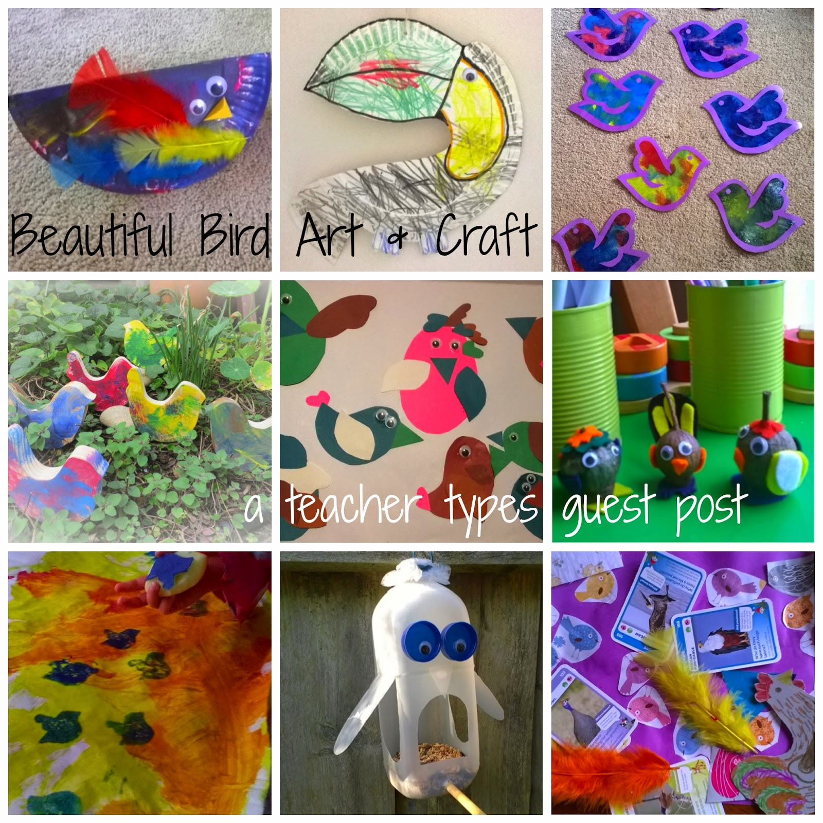 Beautiful Bird Art Craft Activities