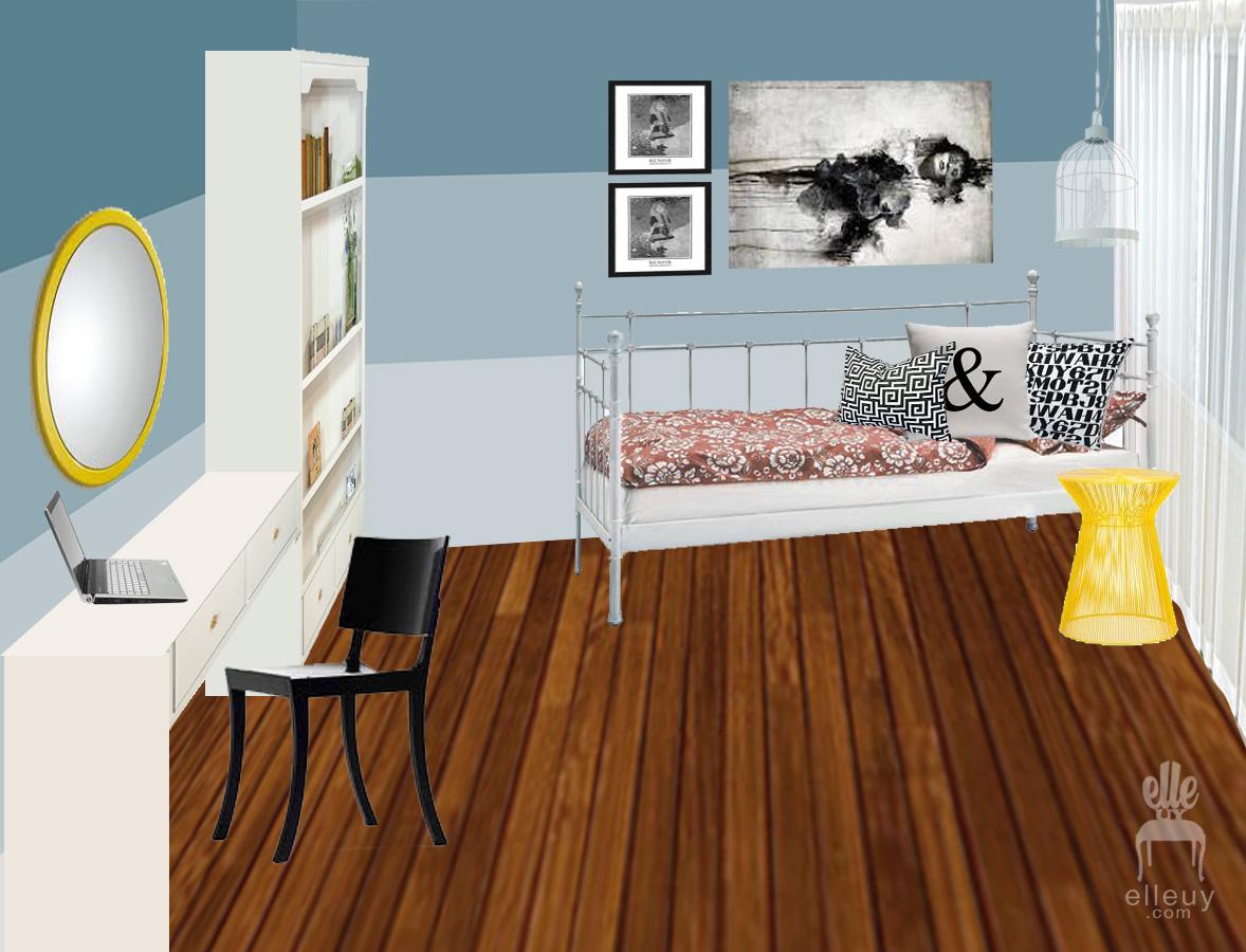Interior Moodboard Room Mood Board Blue Walls Teen Bedroom And Yellow