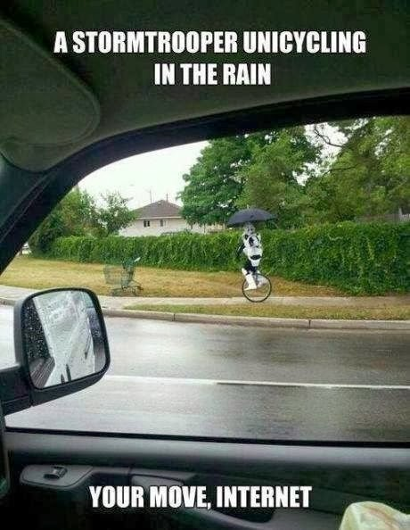 Stormtrooper Unicycling Meme