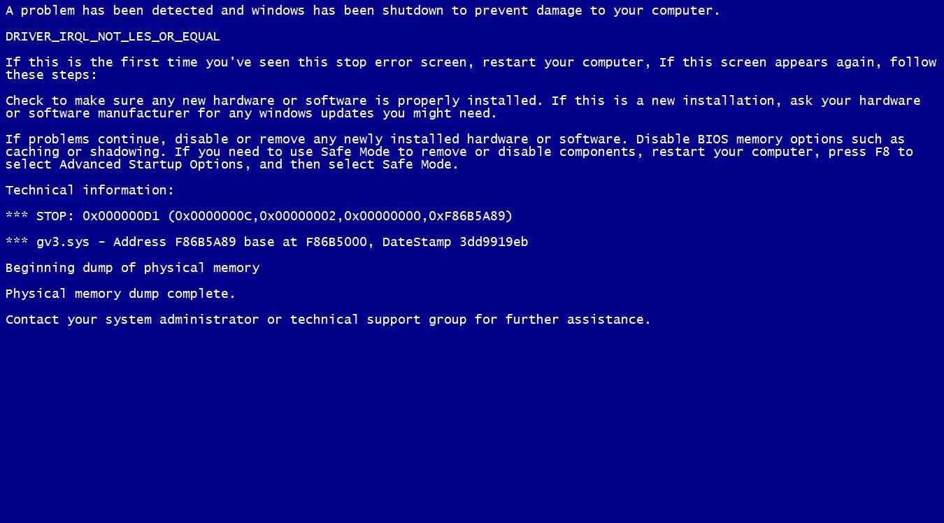 10 penyebab blue screen di windows