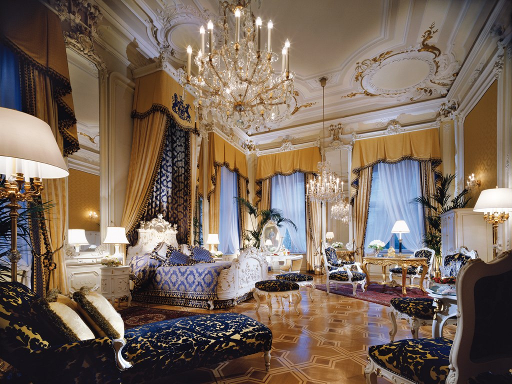 Passion for luxury hotel imperial vienna magnificent for Pics of luxury bedrooms