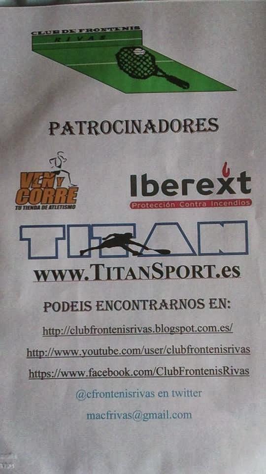 Patrocinadores club frontenis Rivas y nuestras webs