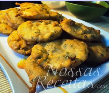 receita de abobrinha empanada com hortelã fresco
