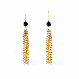 elisha francis, earrings, tassel earrings, onyx earrings, gold earrings, handmade jewellery, luxury jewelry
