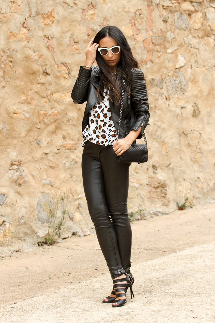 Animal Print and Black Leather