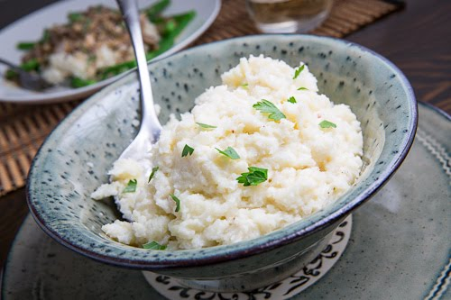 Garlic Mashed Cauliflower