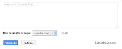 Blogger atau blogspot telah memperbarui tampilan tombol pada kotak komentar