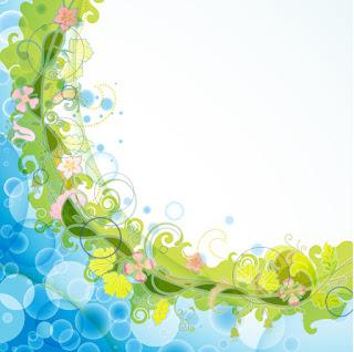 花ビラが曲線を描く優雅な背景 Abstract background with flowers elements イラスト素材