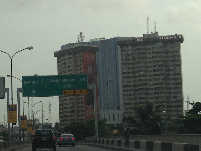 Entering Victoria Island from mainland Lagos, Nigeria