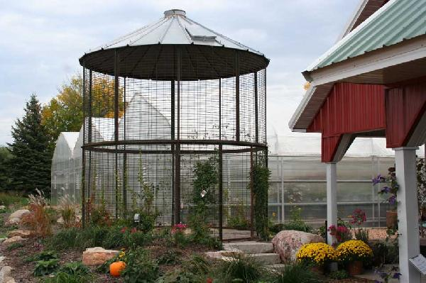 from the edge of the prairie . . .: Corn crib gazebo