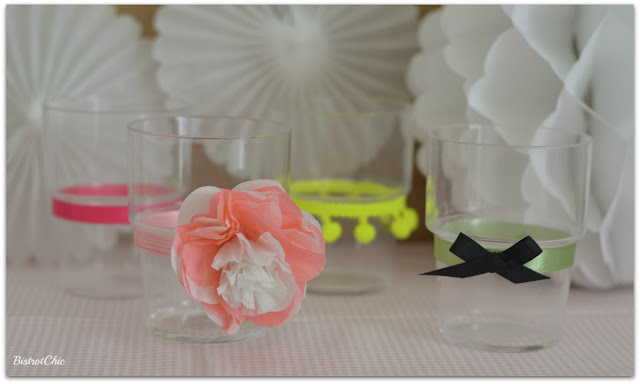 Decorated Glasses for Parties by BistrotChic