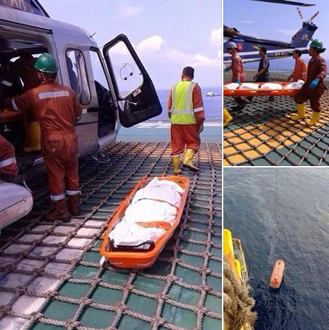 Dua lelaki maut terjatuh diketinggian 35 meter di Pelantar Minyak 5 Gambar