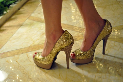 Glitter High Heels Shoes For Girls