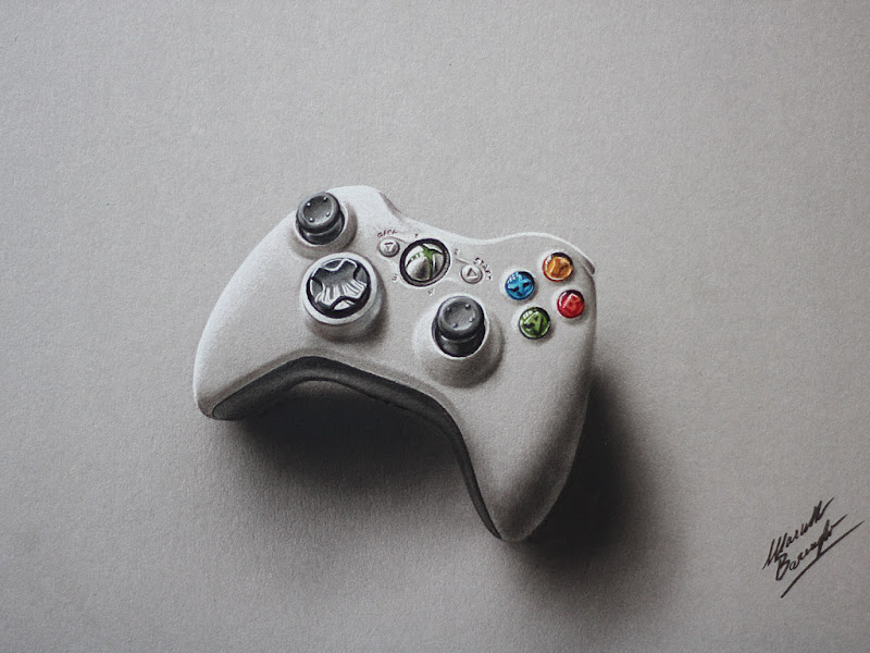 Xbox Live Drawing : Xbox controller drawing marcello barenghi