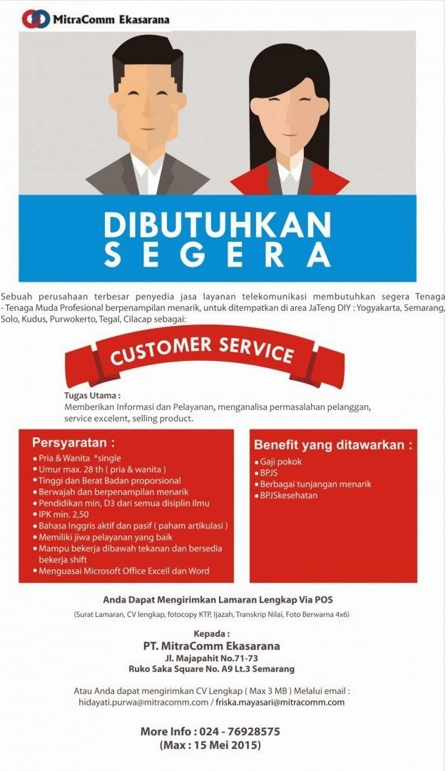 Lowongan Kerja PT Mitracomm Ekasarana Business Process Services (MBPS)