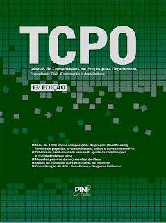 TCPO Download   TCPO: Tabelas de Composições de Preços para Orçamentos   13ª Edição