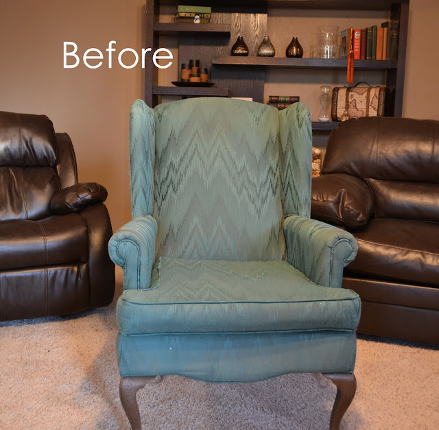 What Catie Did: Reupholstered Wingback Chair