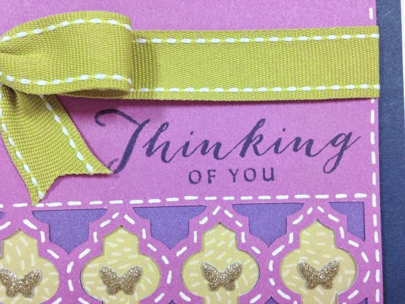 Cricut Moroccan Tile card closeup