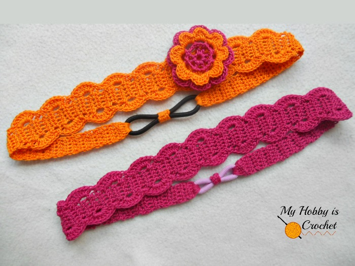 Free Crochet Pattern Flowers Headbands : My Hobby Is Crochet: Crossed Stitch Headband with Flower ...