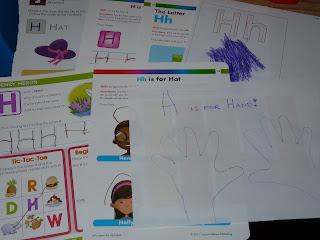 letter H worksheets