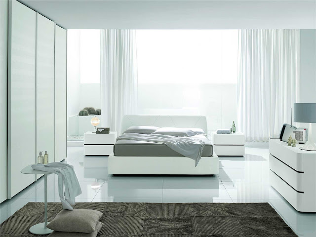 Modern Interesting New White Bedroom Furniture Design Wallpaper