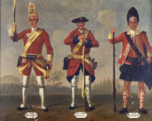 40th Regiment of Foot, and Privates, 41st Invalids Regiment and 42nd Highland Regiment, Grenadiers, 1751