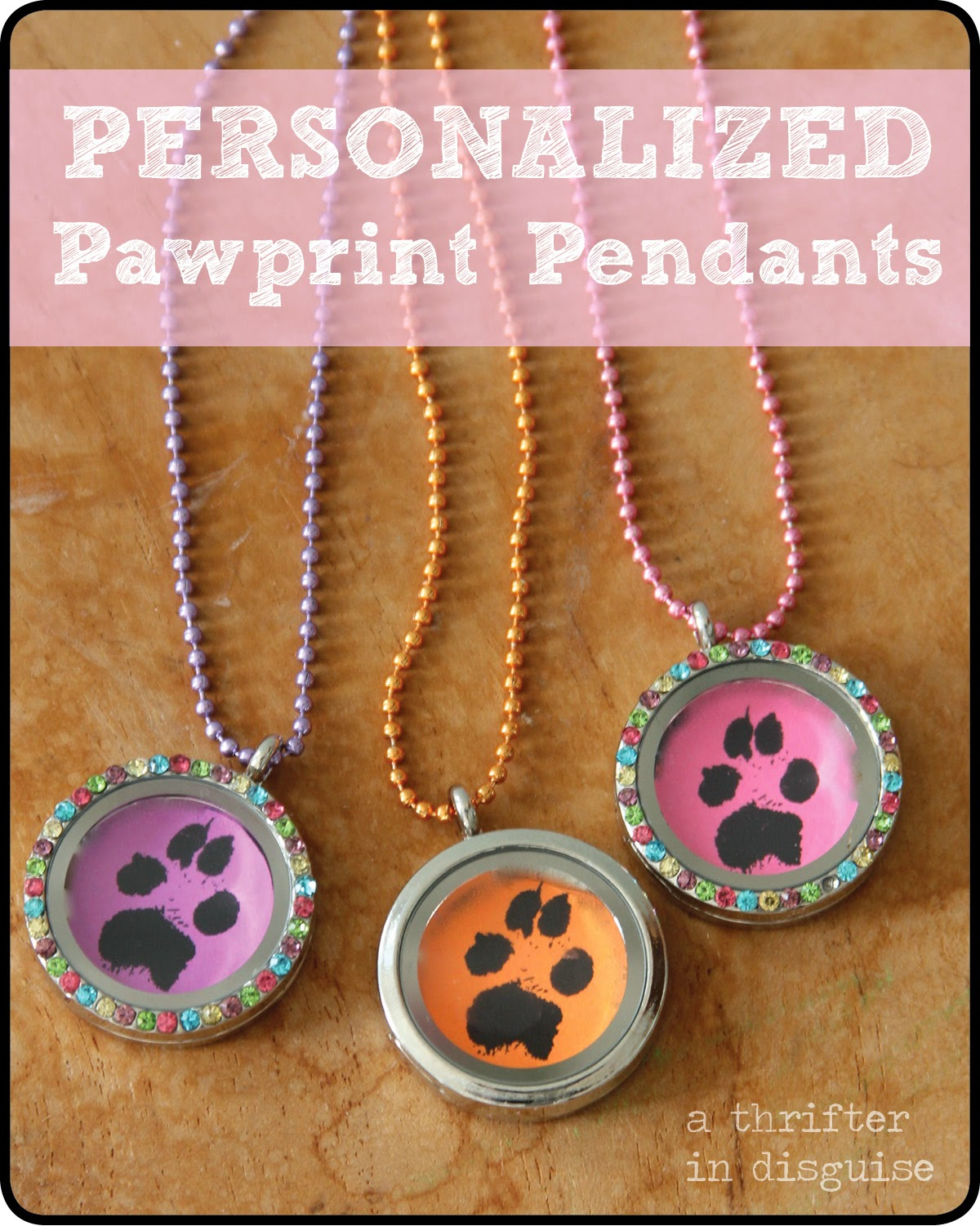 How to make you pet's paw print into a necklace
