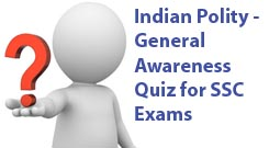 Indian Constitution Objective Previous years MCQ Bit Bank from Various Competitive Exams, Constitution of India & Indian Polity GK Quiz Multiple Choice Questions with answers asked in Many Civil Service Exams with Key, Quiz on General Knowledge, GK Test,  Questions & Answers for UPSC IAS, SSC Tier 1, , Bank PO Clerical, Railway RRB, APPSC & TPSC