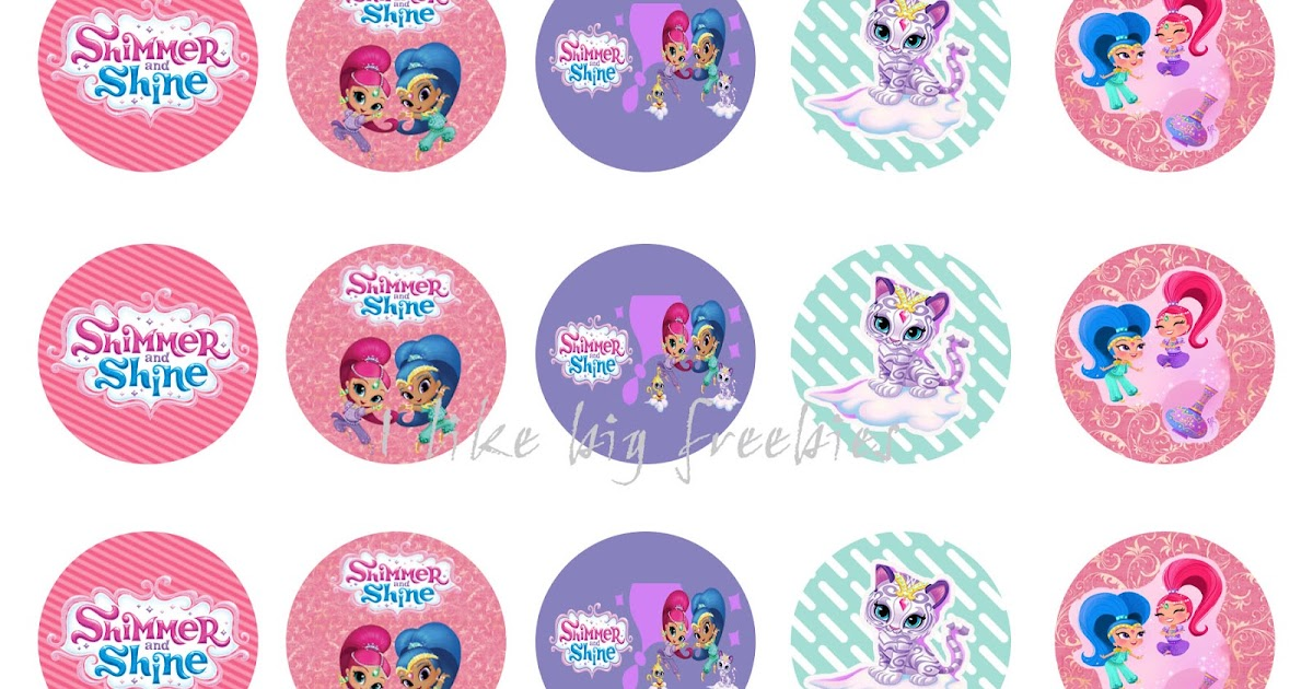 Freebies shimmer and shine bottlecap images for hair bows free
