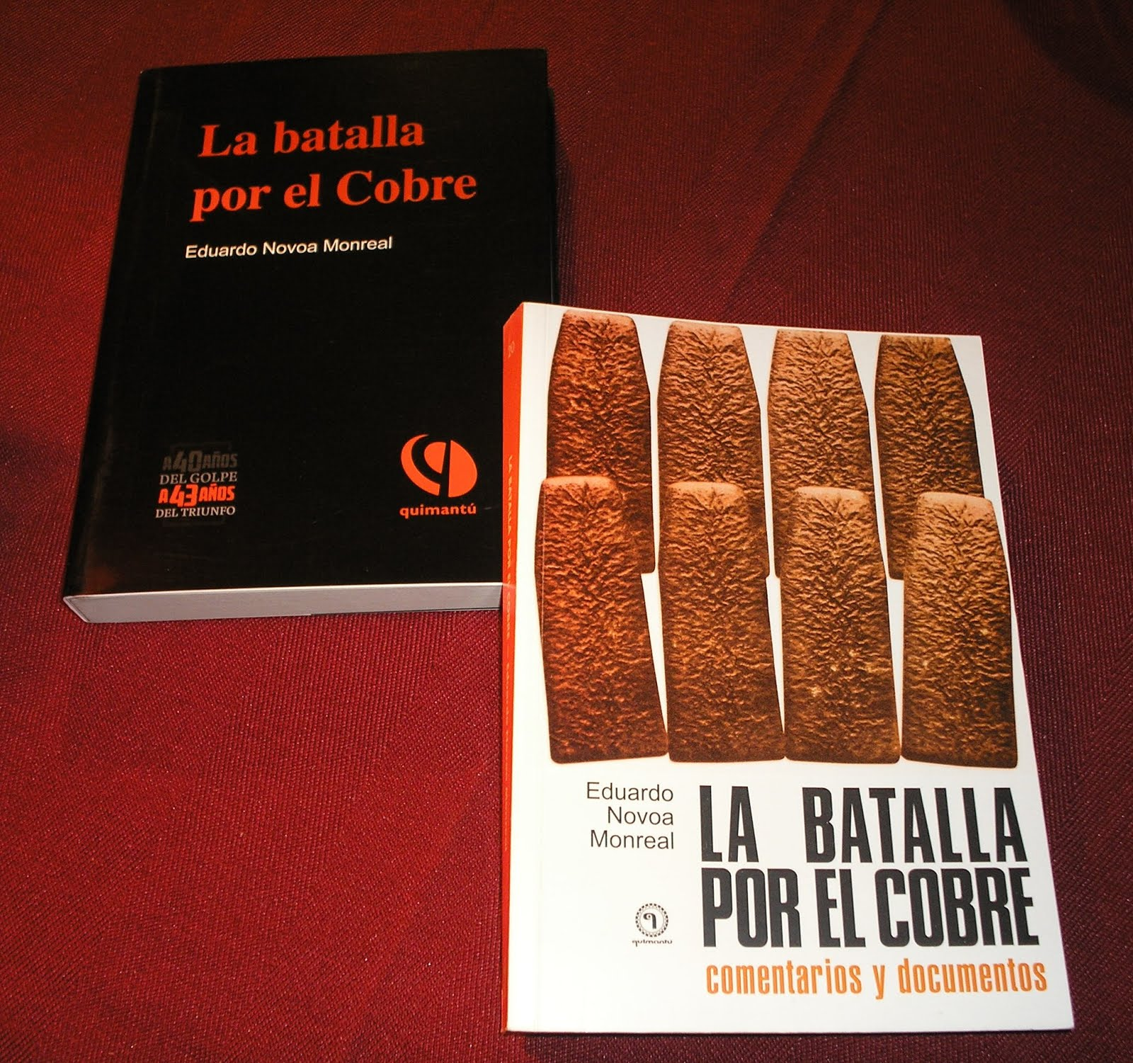 "Eduardo Novoa Monreal: ""La batalla por el cobre""."