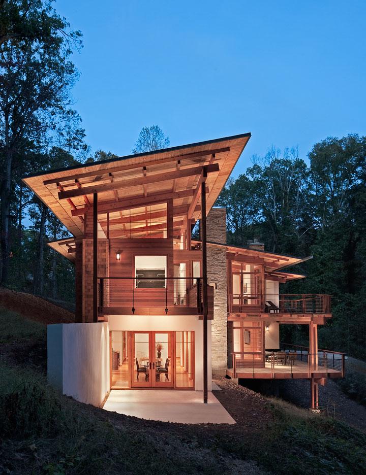 Casa de campo for Wood house design picture