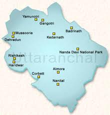 Uttaranchal Travel Map