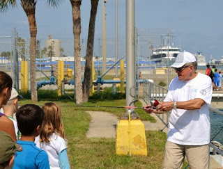 Casting instructions at Port Canaveral Kid's Free Fishing Clinic