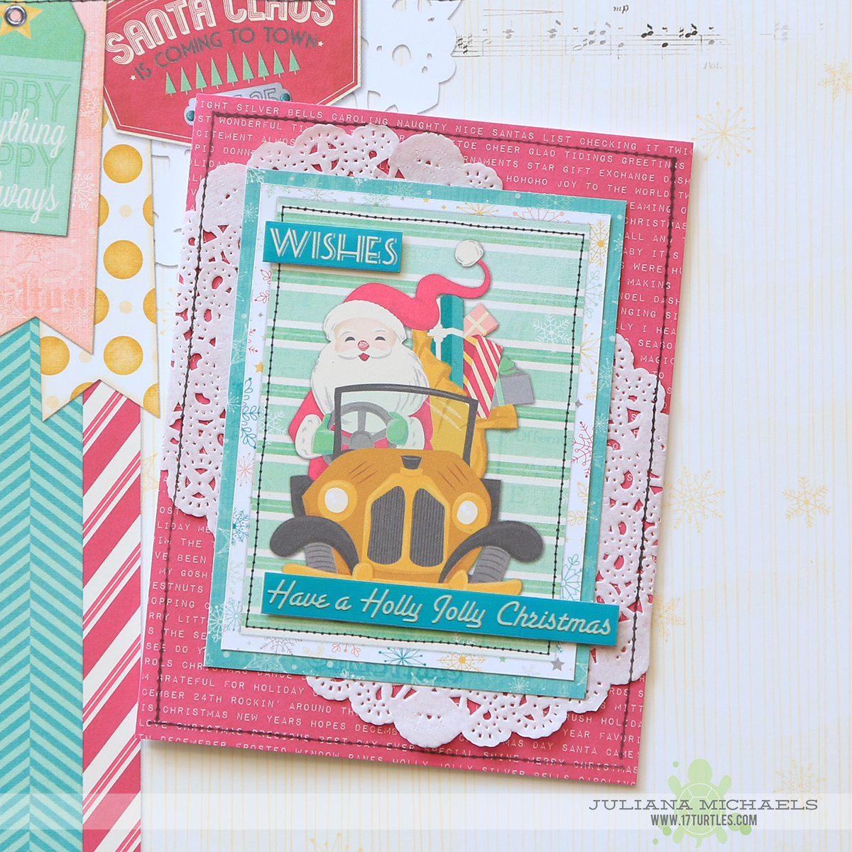 Wishes Christmas Cards featuring BoBunny Candy Cane Lane by Juliana Michaels