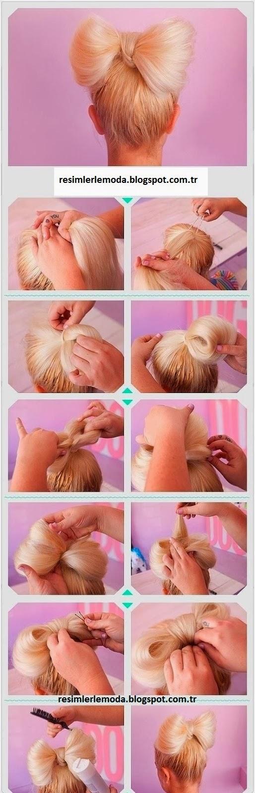 Как сделать бант из волос : подробная инструкция с фото 13