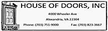 Sales, Service and Installation of Doors Alexandria VA