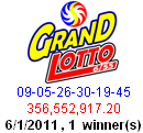 grand lotto winner 6/55 june 1 2011