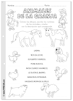 Animales de la granja actividad imprimible Pipo