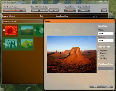 JMC Photo Resizer , image resizer softwares, batch image resizer, image editing software,