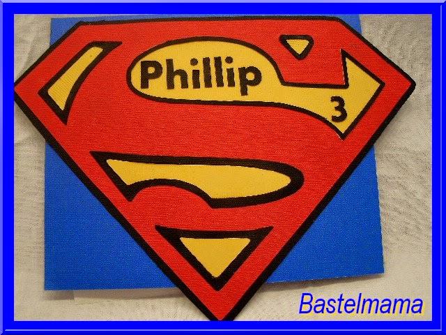 Geburtstag, Karte, Kinder, Superman