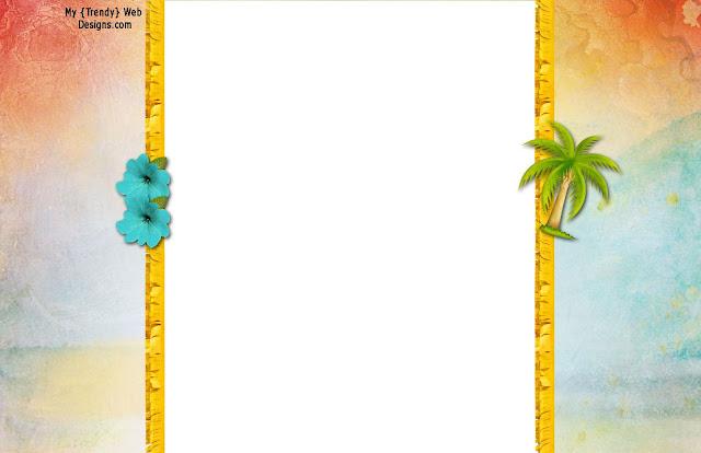 Invitaciones etiquetas y toppers de Fiesta Hawaiana para imprimir